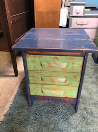 Refinished rustic accent table/ nightstand