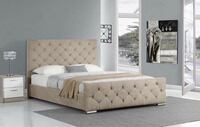 white and brown floral bed mattress Manchester, M13 0RF