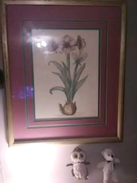brown wooden framed painting of white flowers Cleveland, 37323