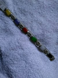 silver and green beaded bracelet Lancaster, 93535