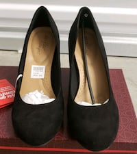 Women's Sz 9 Black Faux Suede Wedges  Alexandria, 22309