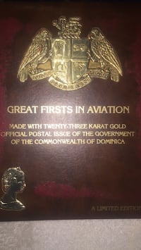 Great Firsts in Aviation made with 23  Karat Gold 30 pages  Portland, 97236