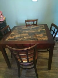 rectangular brown wooden table with six chairs dining set Aliso Viejo, 92656