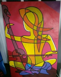 Stretched musical canvas painting Washington, 20011