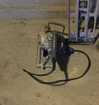 gray corded circular saw