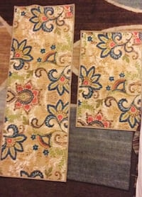 two brown-and-red floral textiles Nanticoke, 18634