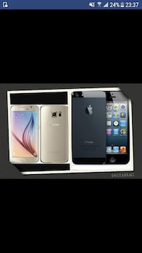 iPhone 5 og en Samsung s6