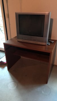 gray CRT television with TV stand New Berlin, 53151