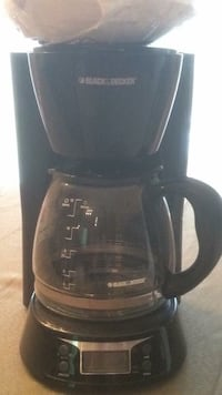 black and silver black and decker coffee maker