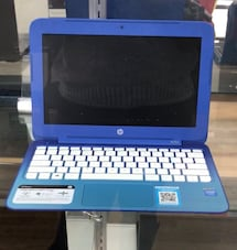 Laptop HP blue and white