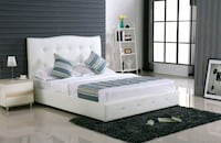 Brand New Double size White faux leather bed frame Richmond, V6X