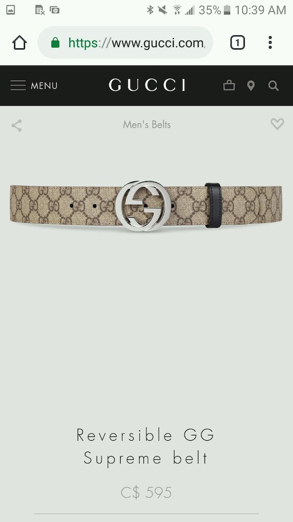 c86d5931ee2 Used 100% authentic GG Supreme Gucci belt size  30-38 for sale in Toronto -  letgo