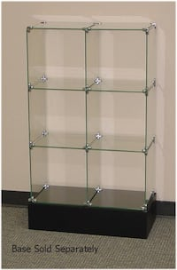 Modular glass square display unit Toronto, M3J 2X7