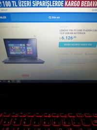 Lenovo y50-70 4gb gtx 860m oyun laptopu