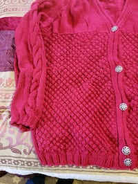 pink knitted button up jacket Sterling, 20165