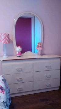 white wooden dresser with mirror Mississauga, L5C 1C3
