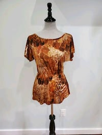 Abstract print top size small