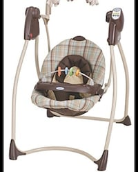 Baby swing and high chair combo