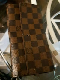 brown and black checked print leather wallet Edmonton, T5B 2W8