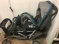 baby's black and gray tandem stroller Falls Church, 22042