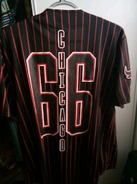 black and red Chicago Bulls 23 jersey shirt 1956 mi