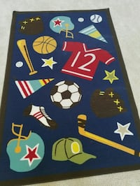 "Area rug for boys room. Approx 4'x7' (52""×80"")"