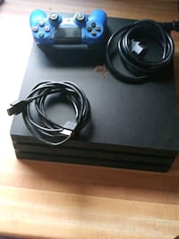 black Sony PS4 console with controller Los Angeles, 91335