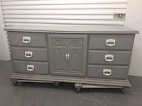 Beautiful chalk gray 7 drawer buffet dresser Nashville, 37211