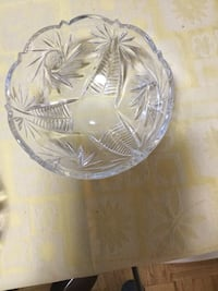 Heavy crystal bowl,new .