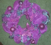 Pink Xmas wreath Denham Springs, 70726