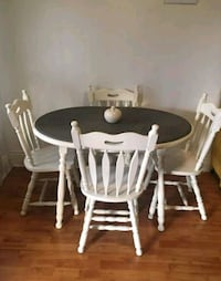 Vintage refinished dining set