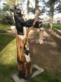 Chainsaw carving, 3 bears in a tree Hamilton, L0R 1V0