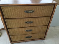 brown wooden 5-drawer tallboy dresser Washington, 20024