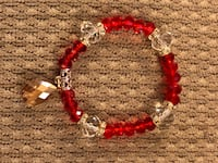red and silver beaded bracelet Rockville, 20852