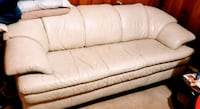 White Leather Sofa and Chair - Very Comfortable! Milford Mill