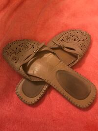 pair of gray leather sandals Victoria, V9A 1E7