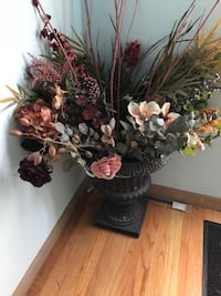 brown and green floral decor Oak Lawn, 60453