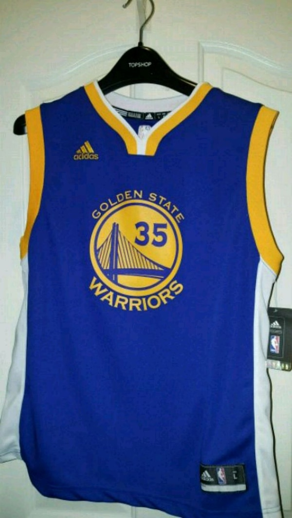 finest selection 3f3fb a8535 Official Kevin Durant Adidas Golden State Warriors