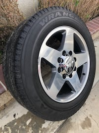 8 on 180 Chevy 20 inch Aluminum Stocks w/ good tires! Located in Buena Park!  Buena Park, 90620