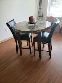 round brown marble table with two chairs Prince George's County, 20785