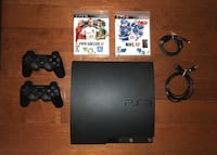 Sony PlayStation 3 Slim PS3 Console (2 controllers & 2 games) 567 km