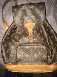 brown Louis Vuitton leather backpack Colton, 92324