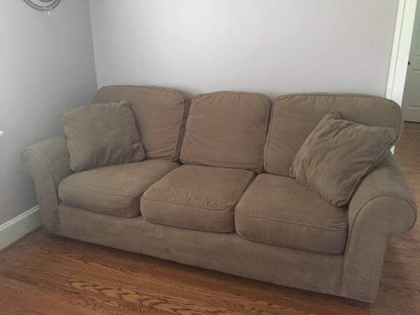 Tannish/Brown microfiber couch