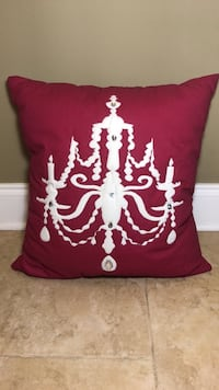 Deep Pink and White Decorative Pillow! Saint Petersburg, 33710