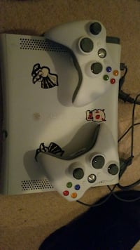 white Xbox 360 game console with controllers Mission, V2V 6R7