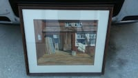 brown wooden house painting with brown wooden frame 742 mi