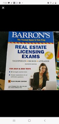 Barrons Real Estate Licensing Exam Union, 07083