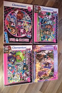 Monster High Puzzle-3adet  ve Rapunzel puzzle