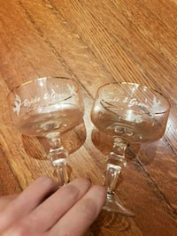 Vintage bride and groom champagne glasses Toronto, M6C 1C5