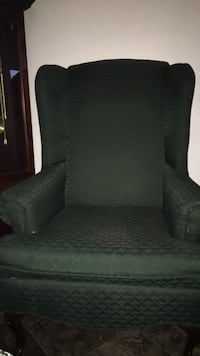 black suede sofa chair with throw pillow Chesapeake, 23320